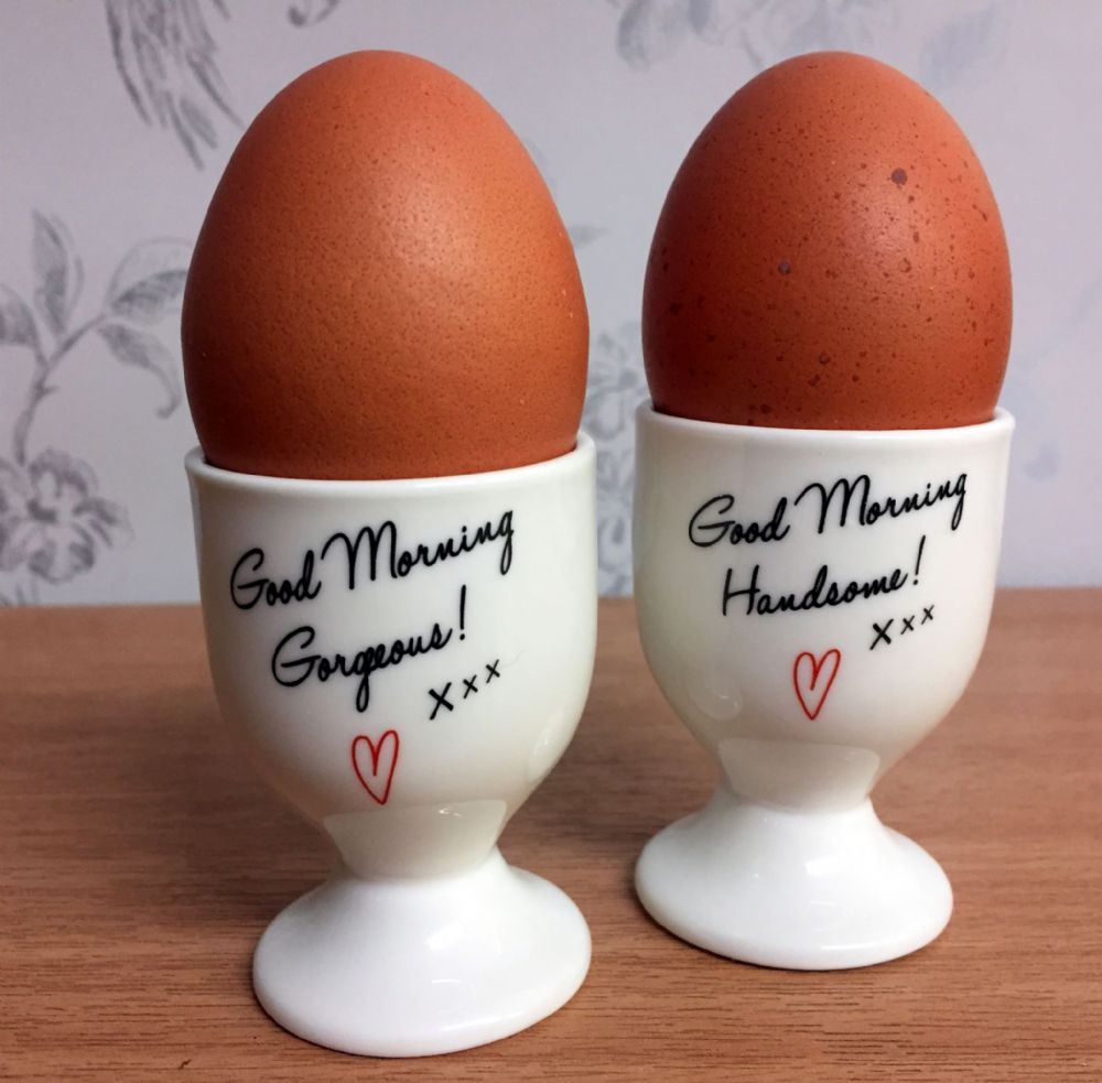 Good Morning Handsome & Gorgeous Egg Cups